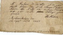 Image of Letter from H. Rider to Ruben F. Watts, front