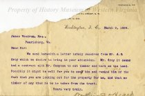 Image of Letter to Jesse Woodrum