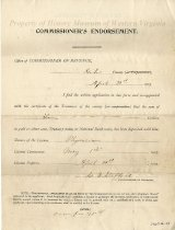 Image of Application for Physician's License, rear