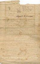 Image of Letter, back