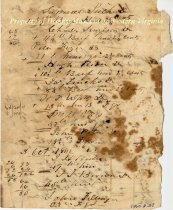 Image of Ledger Page, back