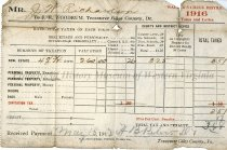 Image of Tax Receipt, front