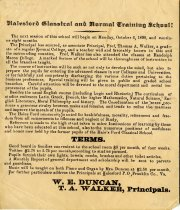 Image of Halesford Classical and Normal Training School Advertisement