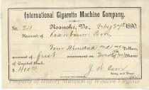 Image of International Cigarette Machine Company Receipt