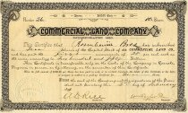 Image of Commercial Land Company Stock Certificate