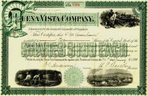 Image of Buena Vista Company Stock Certificate, front