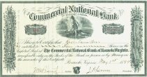 Image of Commercial National Bank Stock Certificate