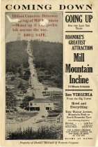 Image of Mill Mountain Incline Handbill