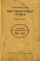Image of Brief History of the First Presbyterian Church, cover