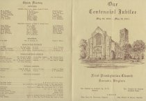 Image of Centennial Bulletin, outside Back & Cover