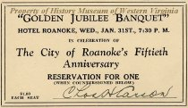 Image of Ticket for Golden Jubilee Banquet