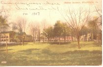 Image of Color Postcard of Hollins Institute, front