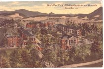 Image of Bird's Eye View of Hollins Institute and Grounds, Roanoke, Virginia. - circa 1912