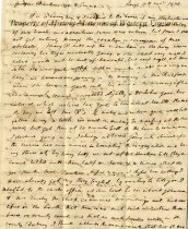 Image of letter - November 17, 1835