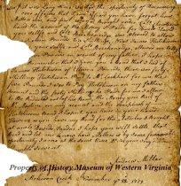 Image of letter - November 22, 1779
