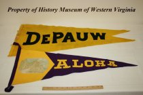 Image of De Pauw and Aloha pennants.
