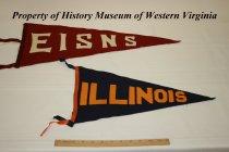 Image of EISNS (Eastern Illinois State Normal School) and Illinois pennants.