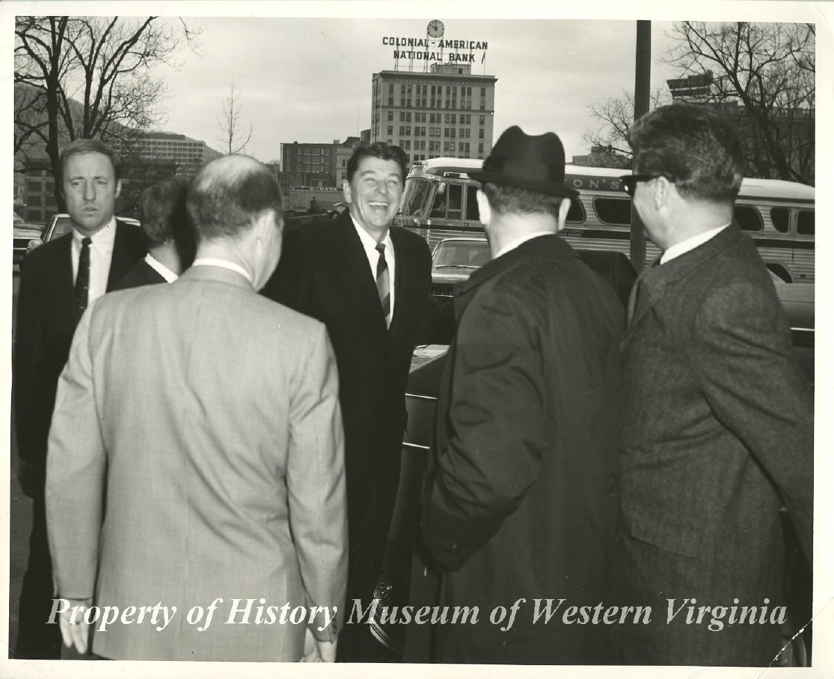 Ronald Reagan At Hotel Roanoke A Black And White Photograph Of