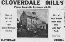 Image of Cloverdale Mill Advertisement
