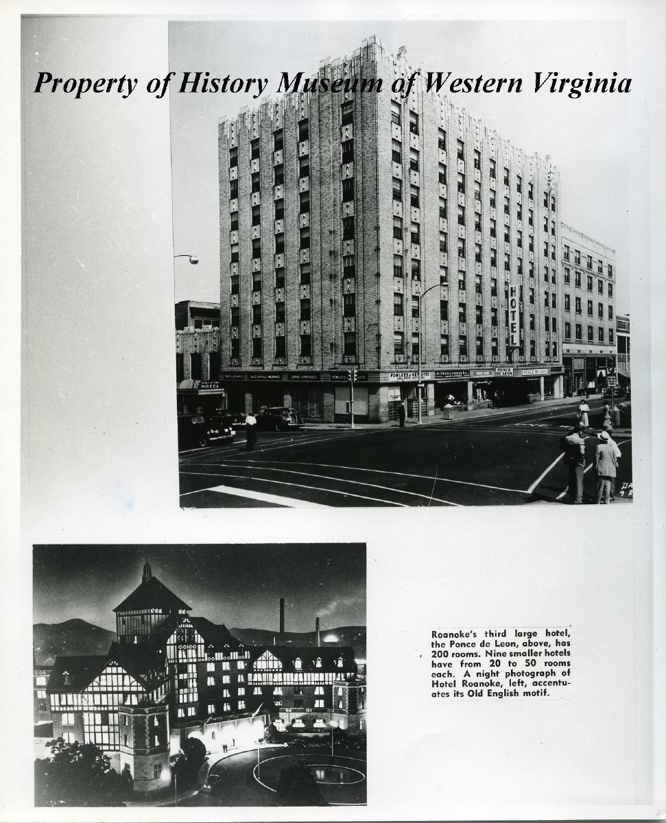 Roanoke Hotels The Ponce De Leon Was Once The Third Largest Hotel