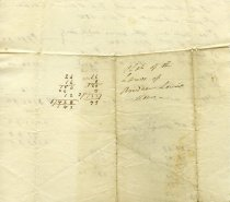 Image of Andrew Lewis Estate Document, back
