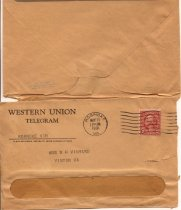 Image of Western Union envelope