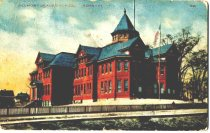 Image of Postcard of Belmont Graded School, front