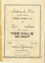 "Image of ""There Shall Be No Night"" Program"