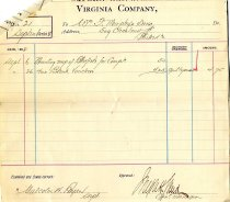 Image of Virginia Company Bill No. 21