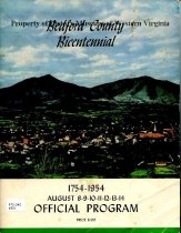 Image of Bedford County bicentennial, 1754-1954, August 8-14; official program. - 2007.23.2