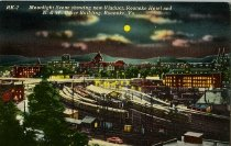 Image of Downtown Roanoke by moonlight