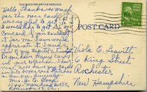 Image of Back of postcard