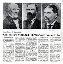Image of Gen. Edward Watts and Col. Wm. Watts Founded Clan - ????