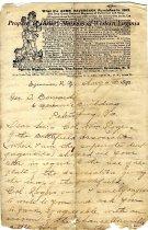 Image of J. C. O. Redington, Editor letter, page 1