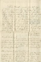 Image of Deed, page one