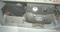 Image of The power supply used auto batteries to power a motor-generator producing 120 volts AC for the tape recorder.