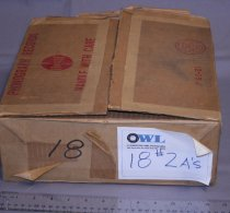"Image of Box of 16 No. 2A Bulbs all individually marked by a piece of paper inside the bulb ""Wabash Superflash""."