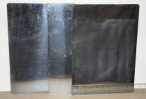 Image of Three (3) Rectangular brass/chrome plates.