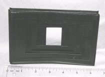 Image of One set metal masks for Auto Focus Enlarger, without envelope. Seven (7) masks (insides measure: 1-1/8 x 1-1/2; 1-1/2 x 2-1/8; 1-1/2 x 2-3/8; 2-1/8 x 3-1/8; 2-3/8 x 4-1/8; 3 x 4; 3-1/8 x 5-3/8.