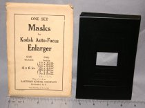 Image of One set metal masks for Auto-Focus Enlarger. Seven (7) masks (insides measure: 1-1/8 x 1-1/2; 1-1/2 x 2-1/8; 1-1/2 x 2-3/8; 2-1/8 x 3-1/8; 2-3/8 x 4-1/8; 3 x 4; 3-1/8 x 5-3/8.  (Same as 2006.03.81.)