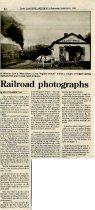 Image of Railroad photographs - September 6, 1995