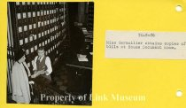 "Image of ""Miss Germuiller obtains copies of bills at House Document Room."" (Client Texaco)."