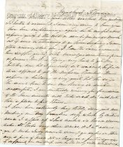 Image of Letter from Anna Maria (Saunders) Preston, page 1