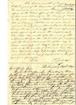 Image of Letter from Fleming James to William Watts, page 1