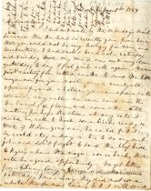 Image of Letter from Emma Gilmer Breckinridge to her daughter, Mary, page 1