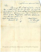 Image of Letter from H. G. Richardson in Farmville, Virginia, to William Watts and Edward Watts Saunders at Big Lick, Virginia, Stating that He Will Pay a Bond Within the Next Three Months - April 18, 1850