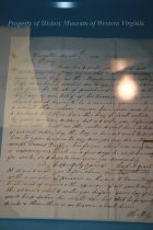 Image of Abuse Complaint Letter - A letter to Col. Piper dated August 18, 1854. It written on white stationery from Hugh M. Grant.