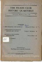 Image of Filson Club History Quarterly - 1966.35.39