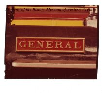 "Image of ""General Name Plate in shop at Louisville, KY"" color negative"