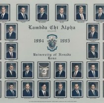 Image of UNRA-P3427-0021 - Lambda Chi Alpha Fraternity, Epsilon Iota Chapter members (1994-1995)